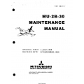 Mitsubishi MU-2B-30 Maintenance Manual YET69016 $29.95