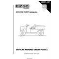 Ezgo Gasoline Powered Utility Vehicle Service Parts Manual 28981-G01