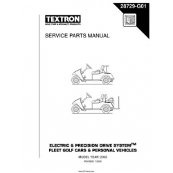 Ezgo Electric & Precision Drive System Fleet Golf Cars & Personal Vehicles Service Parts Manual 28729-G01