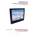 Flight Display Systems FD151CV-LP Installation and Operation Manual 2008