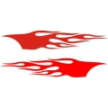 "Flame Decal/Vinyl Sticker 22"" wide by 3.99"" high!"