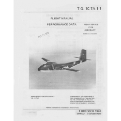 De Havilland Canada C-7A Aircraft Flight Manual/POH Performance Data