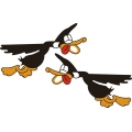 Flying Duck Decal/Sticker 12''w x 7.5''h!