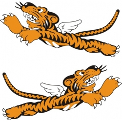 Flying Tiger Decal/Sticker 16.5''w x 7''h!
