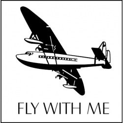 """Fly With Me Decal/Sticker 10.04"""" high by 10"""" wide!"""