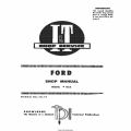Ford I&T Shop Service Manual No. FO-19 Shop Manual