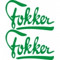 Fokker Aircraft Decal/Sticker 7''high x 12''wide!