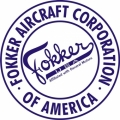 Fokker USA Aircraft Decal,Sticker 6''round diameter!