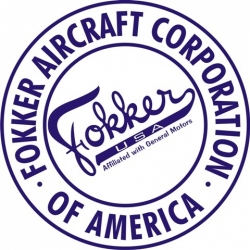 Fokker USA Aircraft Decal,Sticker 6''round diameter!