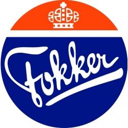"Fokker Decal/Vinyl Sticker 8"" wide by 8.05"" high! 2 Sticker!"