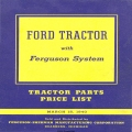 Ford Tractor Parts Price List Ferguson System 1940
