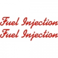 Fuel Injection Aircraft Decal,Sticker 1.5''high x 7''wide!