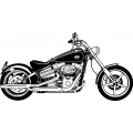 "FXCVC Softail Motorcycle Decal/Sticker 12"" wide"