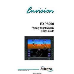 Avidyne EXP5000 Primary Flight Display Pilot's Guide 600-00157-000 Rev 6 $9.95