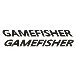 "Gamefisher Boat Sticker/Decal Vinyl Graphic 11.5"" wide by 2"" high"