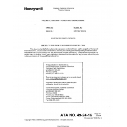 Garrett Model GTCP36-150(CX) Parts Catalog 3800576-1 $13.95