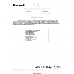 Garrett Model GTCP36-150(CX) Maintenance Manual 3800576-1 $19.95