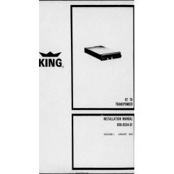 Bendix King KT 79 Transponder Installation/Maintenance/Overhaul Manual $13.95