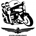 """Goldwing 1800 Motorcycle Decal/Sticker! 7.5"""" wide by 7.95"""" high"""