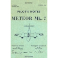 Gloster Meteor Mk. 7 Pilot's Notes $9.95