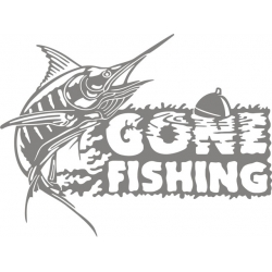 Gone Fishing Sign Logo,Decals!
