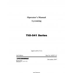 Lycoming TIO-541 Series Operator's Manual 60297-13 2007 $13.95