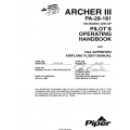Piper Archer III PA-28-181 SN 2843001 AND UP Pilot's Operating Handbook 2002 $13.95