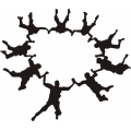 "Group Skydiver Decal Vinyl Sticker 10"" wide by 8.6"" high!"