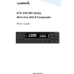 Garmin GTX 335/345 Series All-In-One ADS-B Transponder Pilot's Guide 2016  $6.95