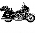 "2007 Harley CVO Motorcycle Vinyl Sticker/Decal 12"" wide by 7"" high!"