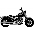 "Harley CB1 Motorcycle Vinyl Sticker/Decal 12"" wide"