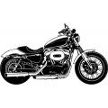 """Harley XLI200N Nightster Vinyl Sticker/Decal 12"""" wide"""