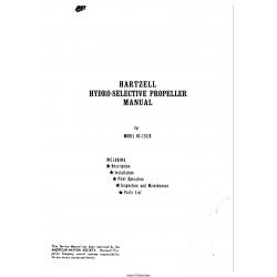 Hartzell Model HC-12X20 Hydro-Selective Propeller Manual