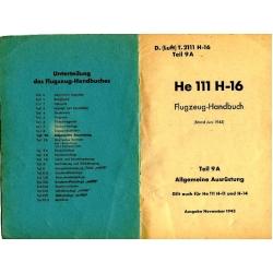 Heinkel He 111 H-16 Flugzeug-Handbuch $9.95