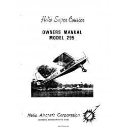 Helio Super Courier Model H-295 Owner's Manual $9.95
