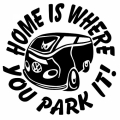 Home Is Where You Park It! Decal/ Stickers!