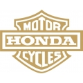 "Honda Emblem Motorcyle Vinyl Stickers/Decals 3.5"" wide"