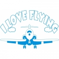 I Love Flying ! Decal/ Stickers!