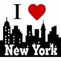 I Love New York! Sticker/ Decals!