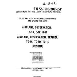 Cessna Airplane, Observation, 0-1A, 0-1E, 0-1F $13.95