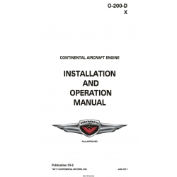 Continental O-200-D & X Series Engine Installation and Operation Manual OI-2 $19.95