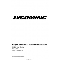 Lycoming IO-360-N1A Engine Installation and Operation Manual IOM-IO-360-N1A $29.95
