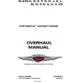 Continental IO-470 Series Overhaul Manual X30588 $29.95