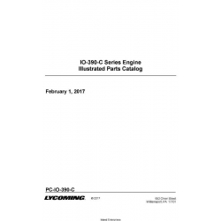 Lycoming IO-390-C Series Engine Illustrated Parts Catalog PC-IO-390-C $29.95