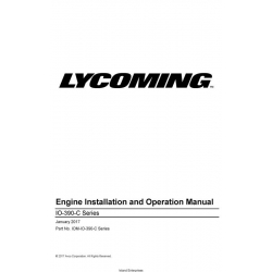 Lycoming IO-390-C Series Engine Installation and Operation Manual IOM-IO-390-C Series $29.95