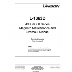 Unison L-1363D 4300/6300 Series Magneto Maintenance and Overhaul Manual