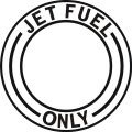 Jet Fuel Only Aircraft Fuel Placards!