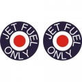 Jet Fuel Only Aircraft Decal/Sticker 6''round diameter!