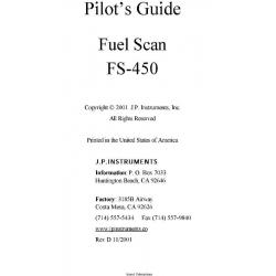 J.P Instruments FS-450 Fuel Scan Pilot's Guide $5.95