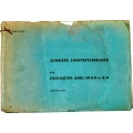 Junkers Einspritzanlage Flug-Motor Jumo 211B/D u. G/H $2.95
